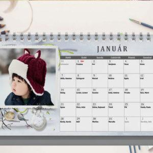 Fényképes asztali naptár egyedi