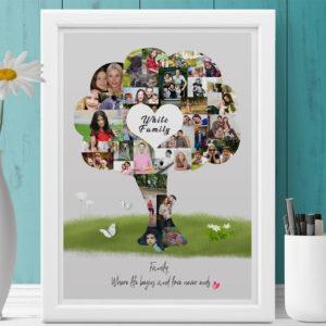 családfa poszter fényképes