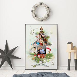 Fényképes karácsonyi poszter