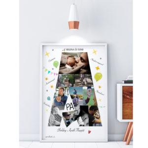 Fényképes apák napi poszter