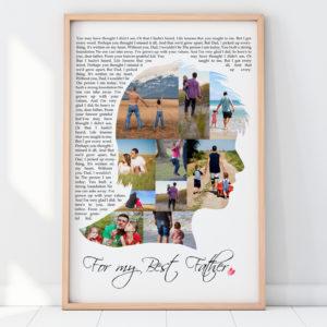Férfi apák nap szülinapi kollázs poszter