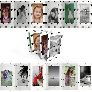 Fekete fehér fotóalbum