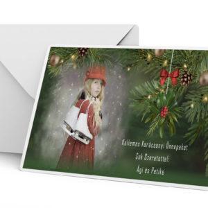 Karácsonyi fényképes képeslapcsomag. Egyedi feliratos fotós ajándék