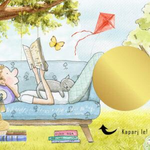 Egyedi kaparós sorsjegy, személyre szóló, névre szóló, könyvmolyoknak, könyvimádóknak, szeretek olvasni, olvasás szerelmeseinek, gyerekeknek, kislánynak felnőttnek, vicces ajándék, ajándék kisérő, különleges vicces ajándék kaparós titkos üzenet secret message apró ajándék, figyelmesség, apróság