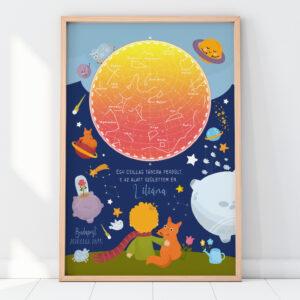 Kis herceg csillagtérkép poszter emléklap csillagkép falikép, égboltkép, égbolt, csillagkép, csillag, csillagtérkép, égbolttérkép falikép, csillagtérkép, egyedi ajándék, ajándék, születésnap, keresztelő szülinap falikép, égboltkép, csillagkép, csillagtérkép, égbolttérkép, plakát, poszter, kép